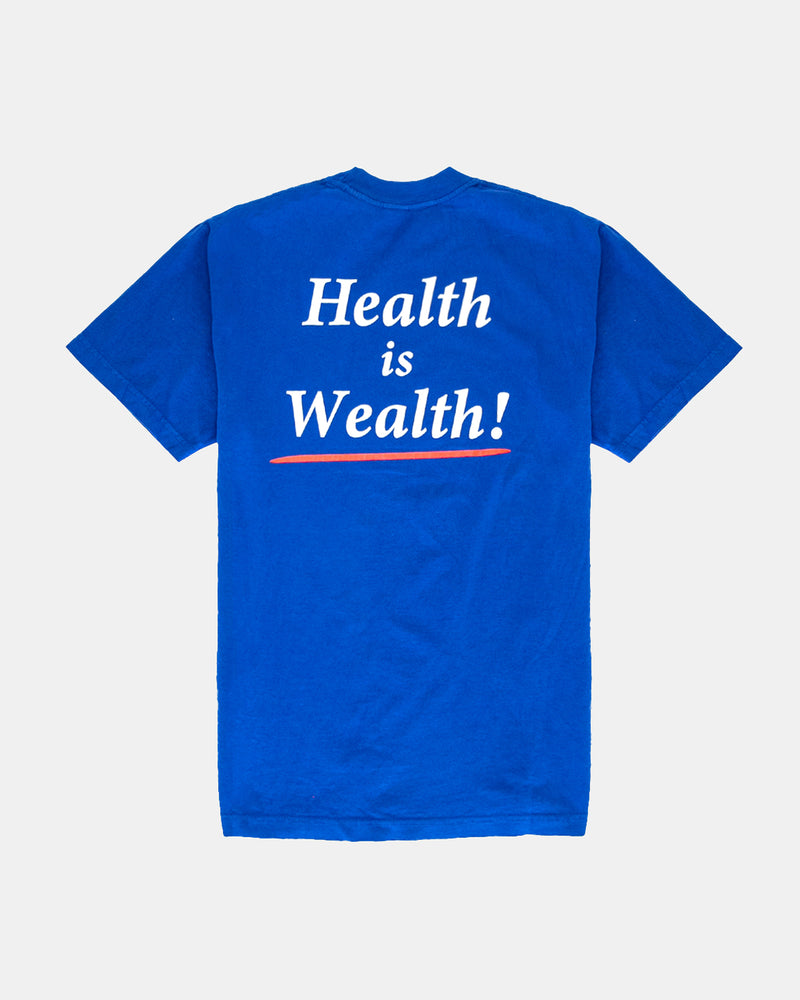 Health is Wealth Tee (Lapis | White)