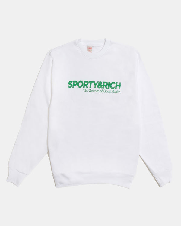Science Crewneck (White | Kelly Green)