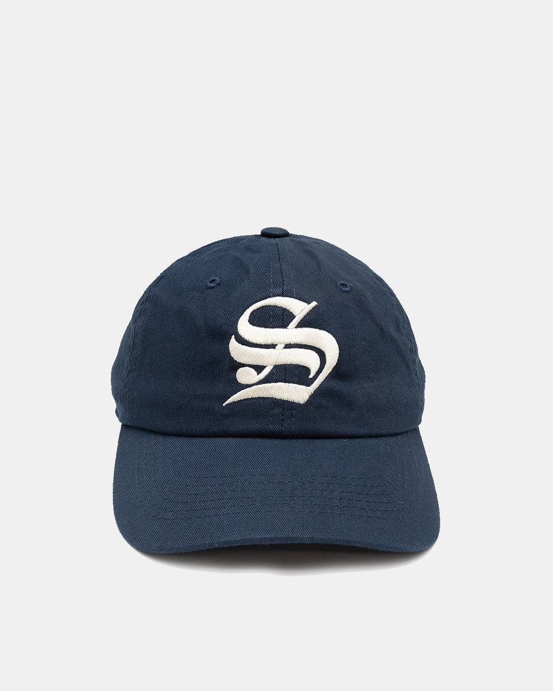 Old English 'S' Hat (Navy | Cream)