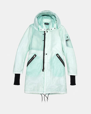 Stone Island - Shadow Project 70403 Quilted Fishtail Parka with Hand Gaiter (Light Green)