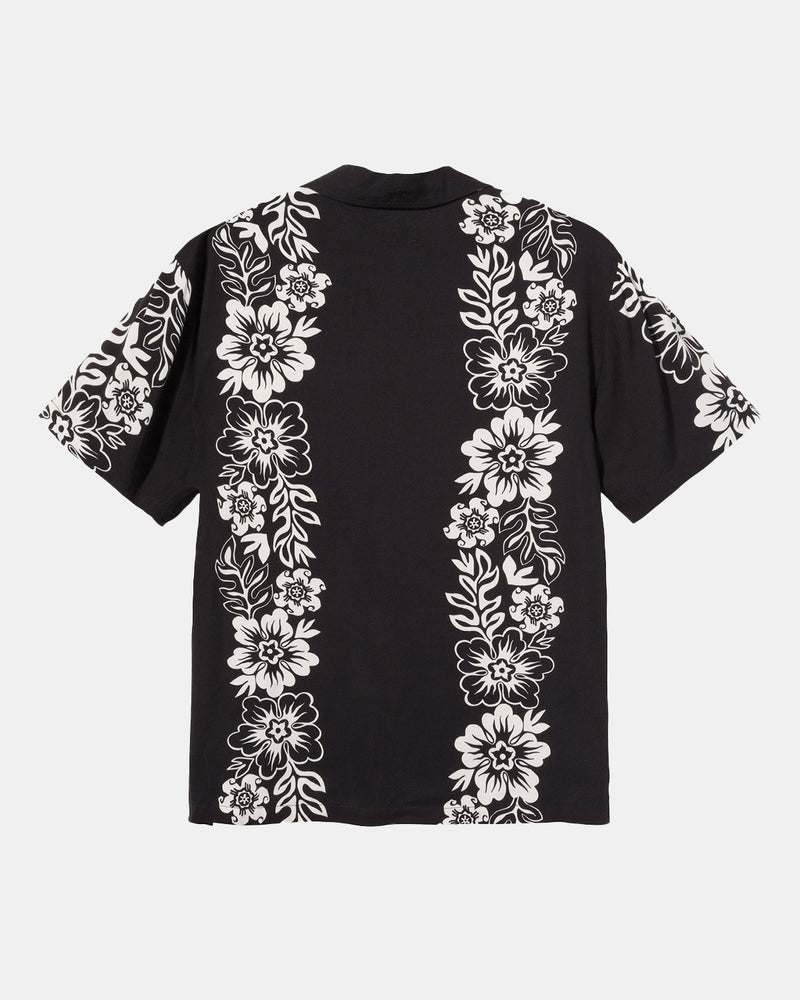 Hawaiian Pattern Shirt (Black)