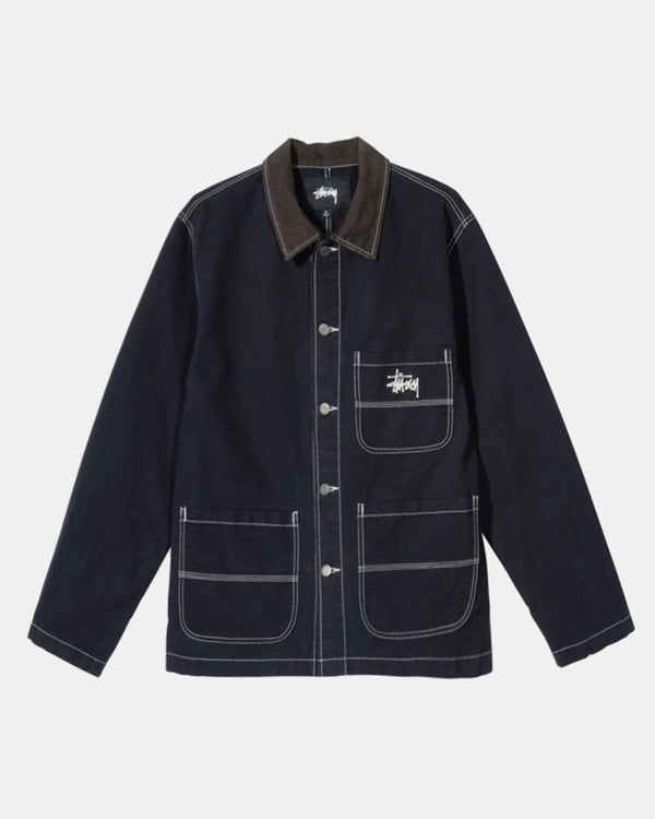 Brushed Moleskin Chore Jacket (Navy)