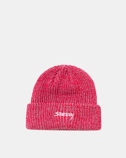 Two Tone Knit Beanie (Red)
