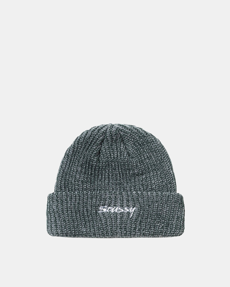 Two Tone Knit Short Beanie (Green)