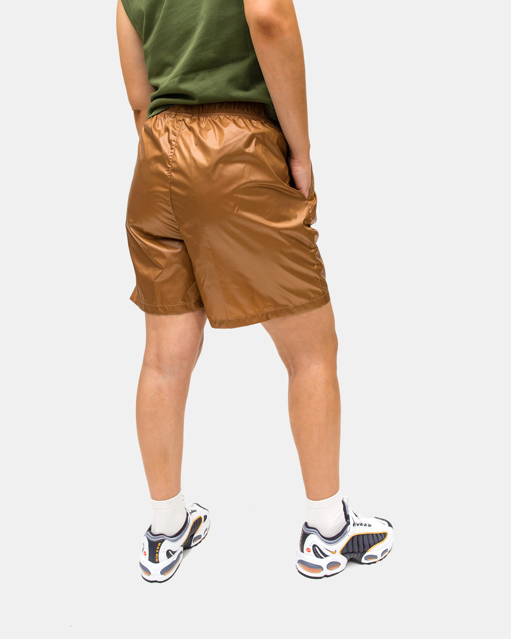 Stussy - Women's Langley Shiny Baggy Short (Tan)