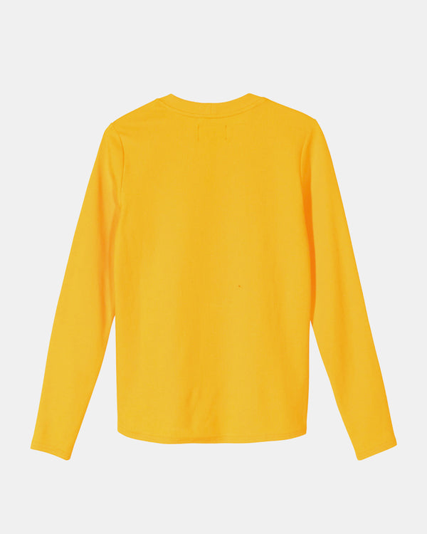 Women's Baby Rib Long Sleeve Tee (Orange)