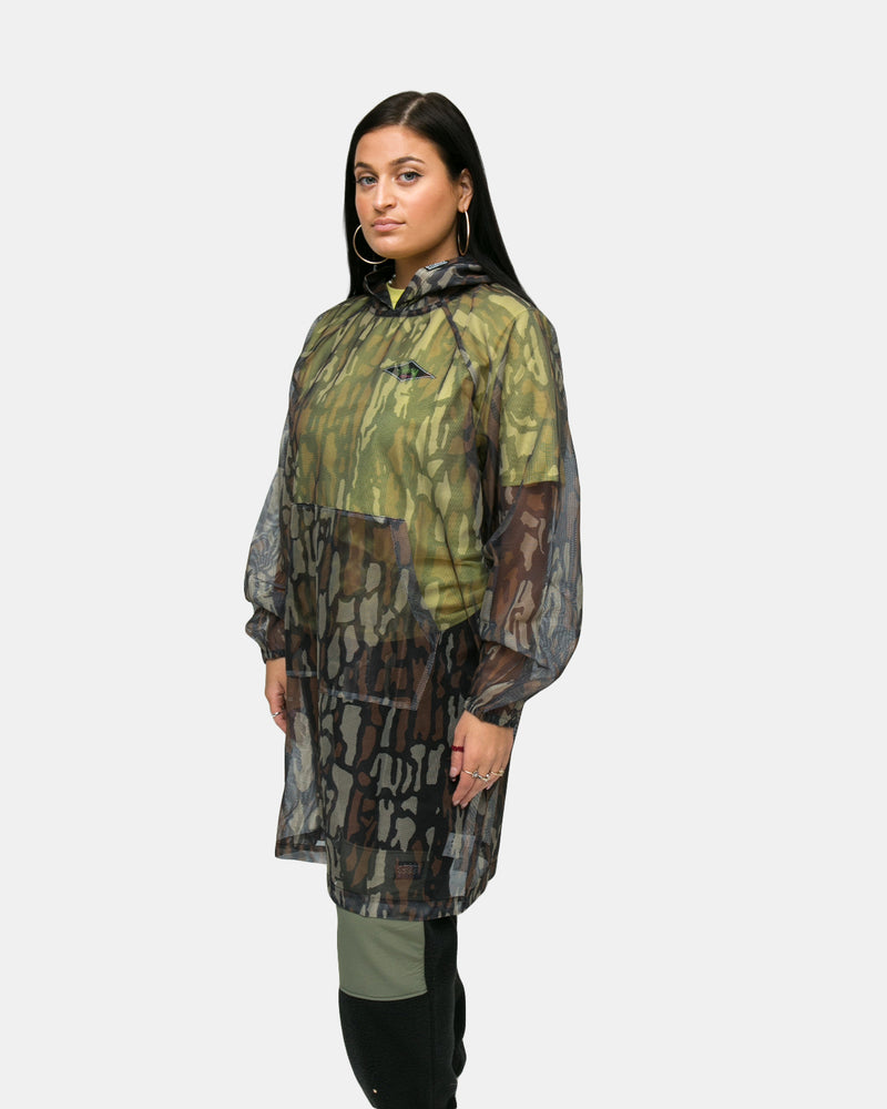 Stussy - Women's Tree Bark Camo Mesh Pullover (Brown)