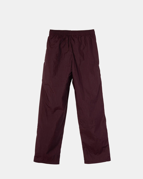 Women's Nylon Warm Up Pants (Eggplant)