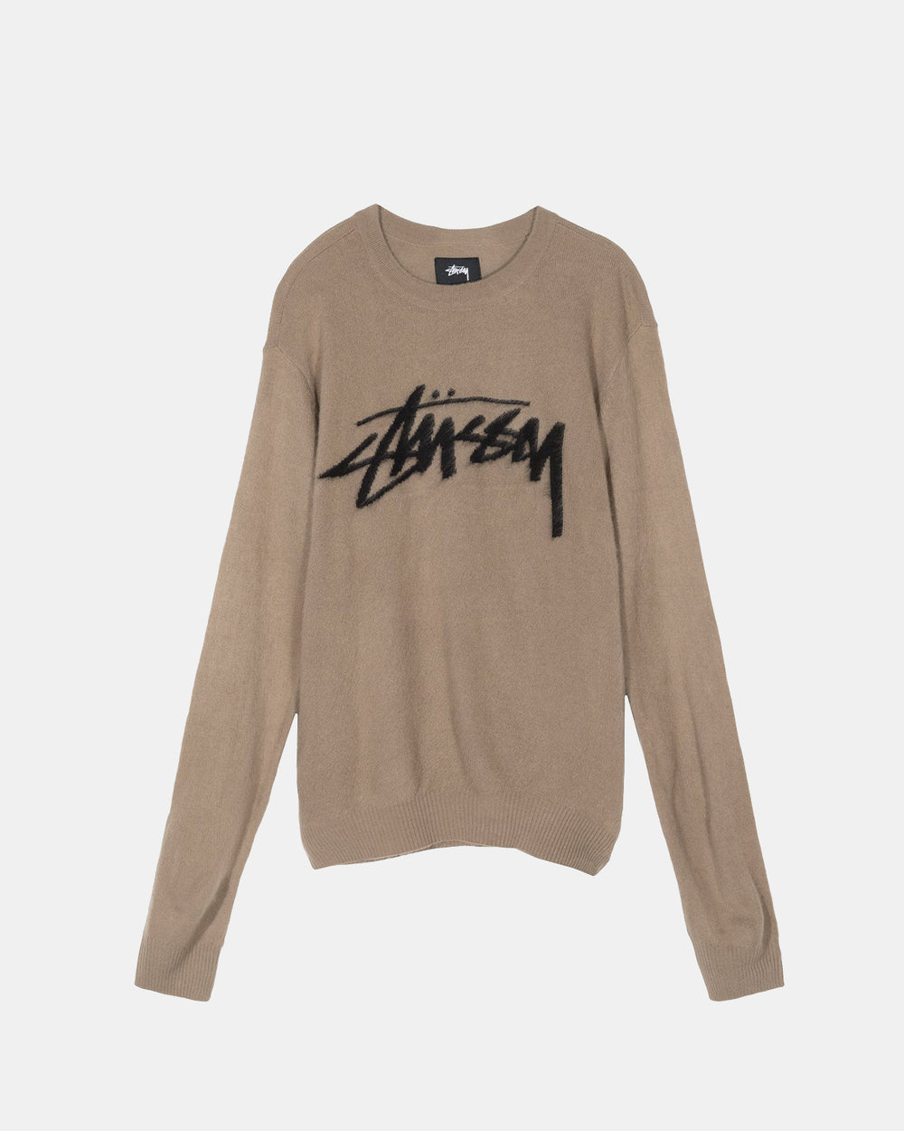 Stussy - Women's Brushed Out Logo Sweater (Taupe)