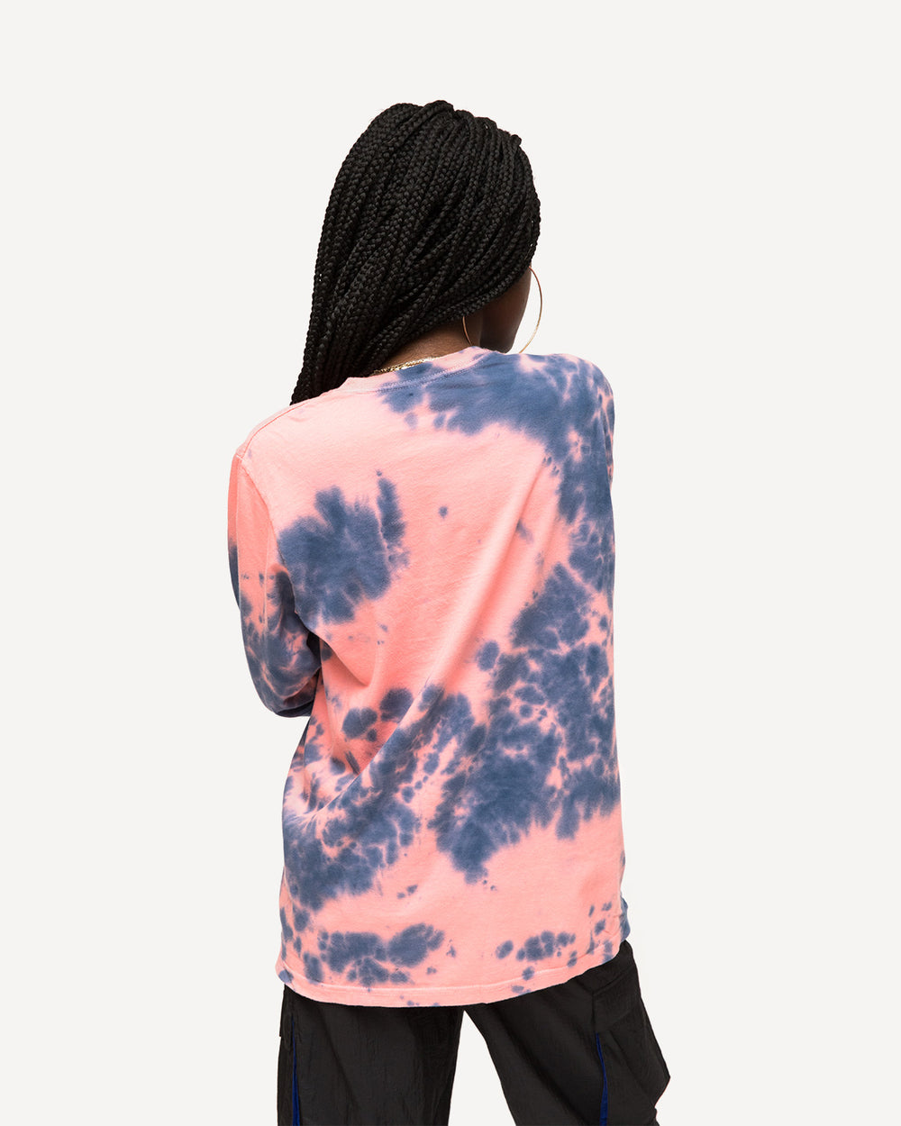 Stussy - Women's Stock Tie Dye Long Sleeve Tee (Pink)