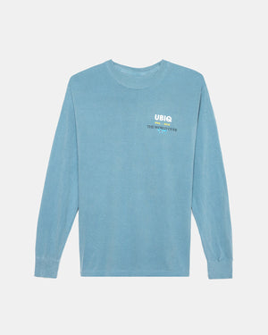 UBIQ - Travel Poster Long Sleeve Tee (Ice Blue)