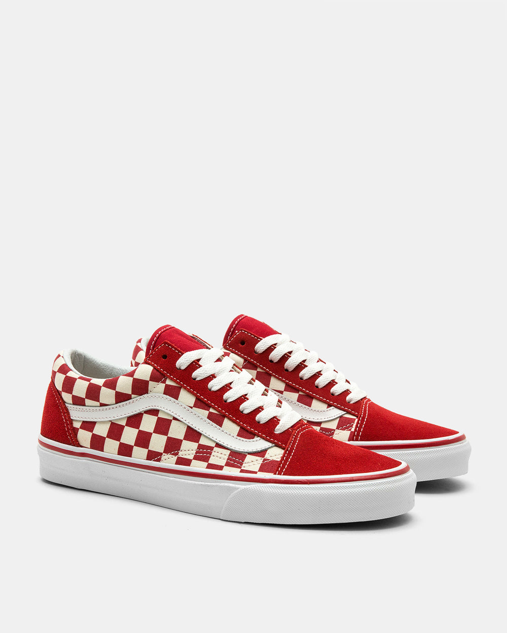 Vans - Old Skool 'Primary Check' (Racing Red | White)
