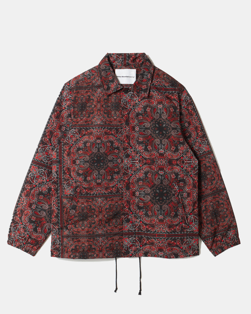Bandana Printed Coach Jacket (Red | Black)