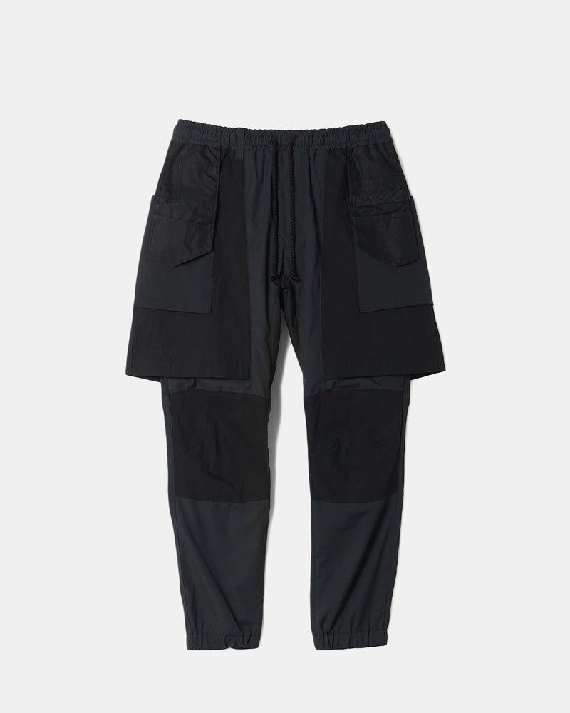 Stretched Layered Pants (Black)