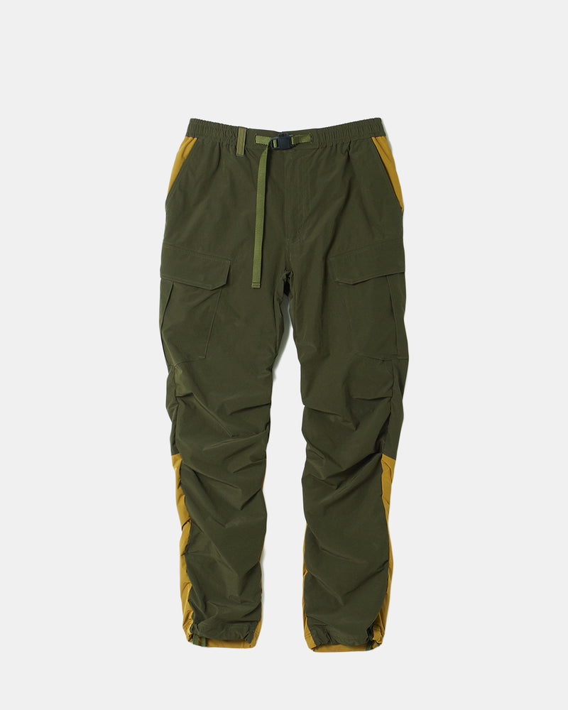 Stretched Shirring Cargo Pants (Khaki)