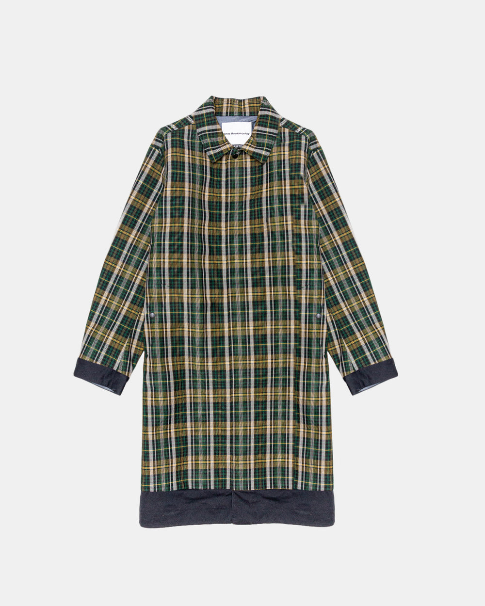 White Mountaineering - Pertex Shield Pro Wool Check Coat (Green)