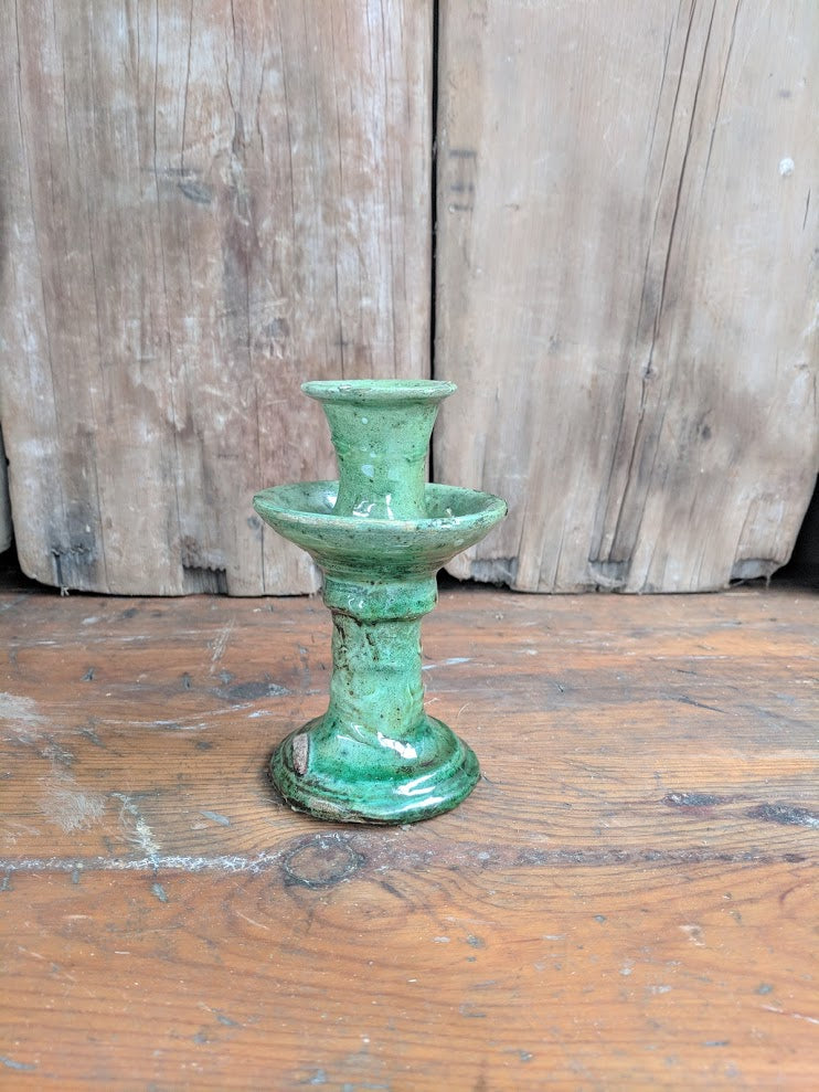 Moroccan pottery, Tamegroute candlestick