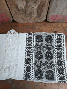 Handwoven hand embroidered runner