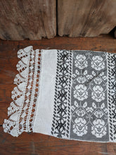 Handwoven and embroidered runner/scarf