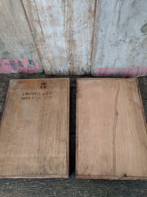 Wooden in and out trays