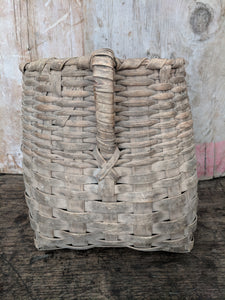 Handwoven fishing basket