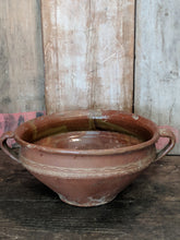 Brown pottery bowl