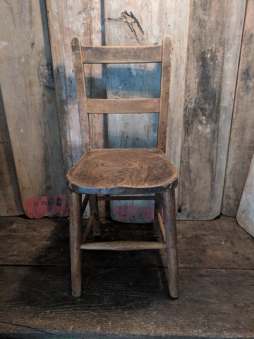 Child's wood chair