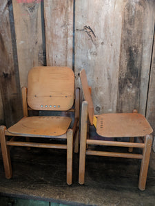 Bauhaus, mid century chair, child's wood chair