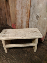 White wooden stool