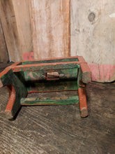 Painted low stool