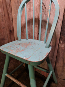 Painted child's high chair