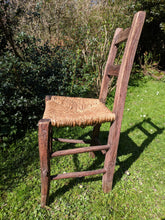 Rustic, rush seated chair