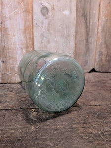 Recycled glass jar