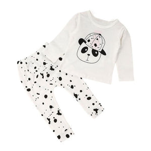 Baby Clothes Boys Girls 2017 Cute Cotton Long Sleeved Jacket Panda Pants Set Children