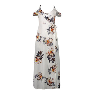 Boho style long dress women Off shoulder beach spring summer dresses Floral print