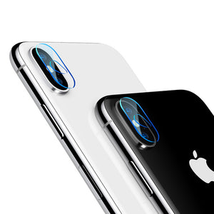 Baseus 5D Camera Lens Screen Protector For iPhone X 10 Transparent Clear Back Cover