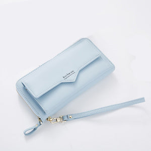 Anreisha Fashion Long Woman Purse New Designer Female Wallet Clutch PU Leather Ladies