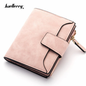 2018 leather women wallet hasp small and slim coin pocket purse women wallets cards