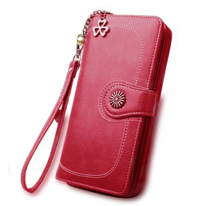 2018 New Hot Sale Women Clutch Wallet Split Leather Wallets Female Long Wallet Women