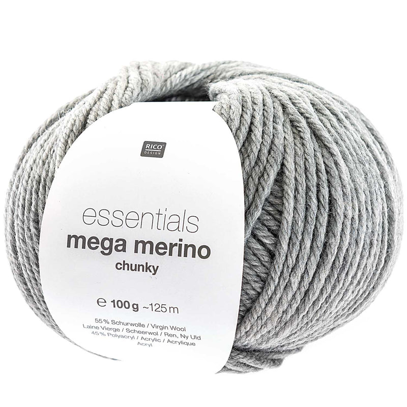 Rico essentials mega merino 013 light grey