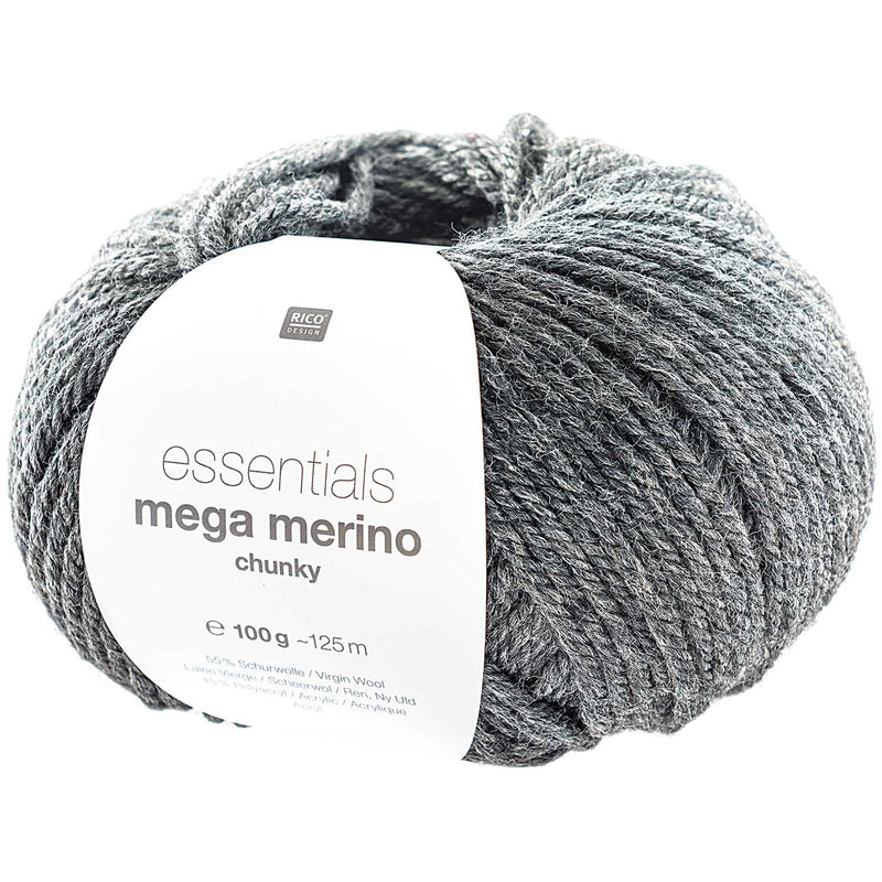 Rico essentials mega merino 014 grey