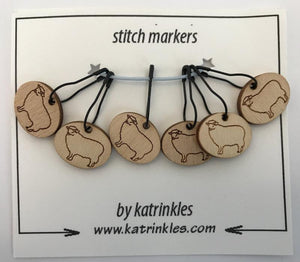 Katrinkles   removable 'Sheep' stitch markers   Ida's House