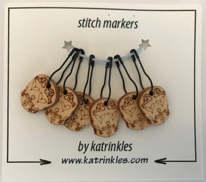 Katrinkles Sugar Skull Removable Stitch Markers