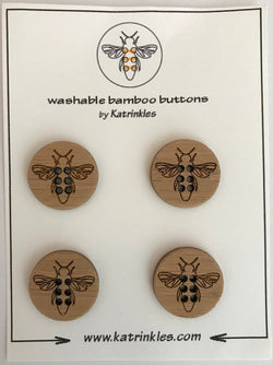 "Katrinkles -Bee buttons 1""- Ida's House"
