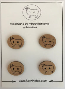 Katrinkles   Sheep buttons-2 holes   Ida's House