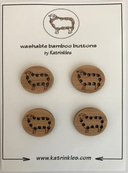 "Katrinkles -Sheep buttons 1""- Ida's House"