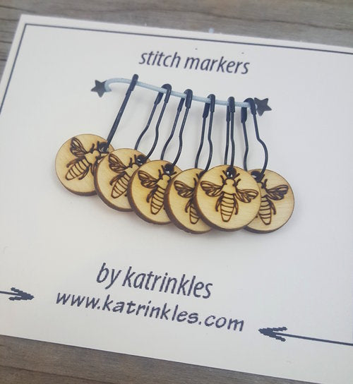 Katrinkles   removable 'Bee' stitch markers   Ida's House