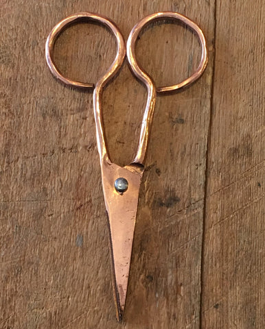 "Scissors -  5"" Hand Forged Copper"