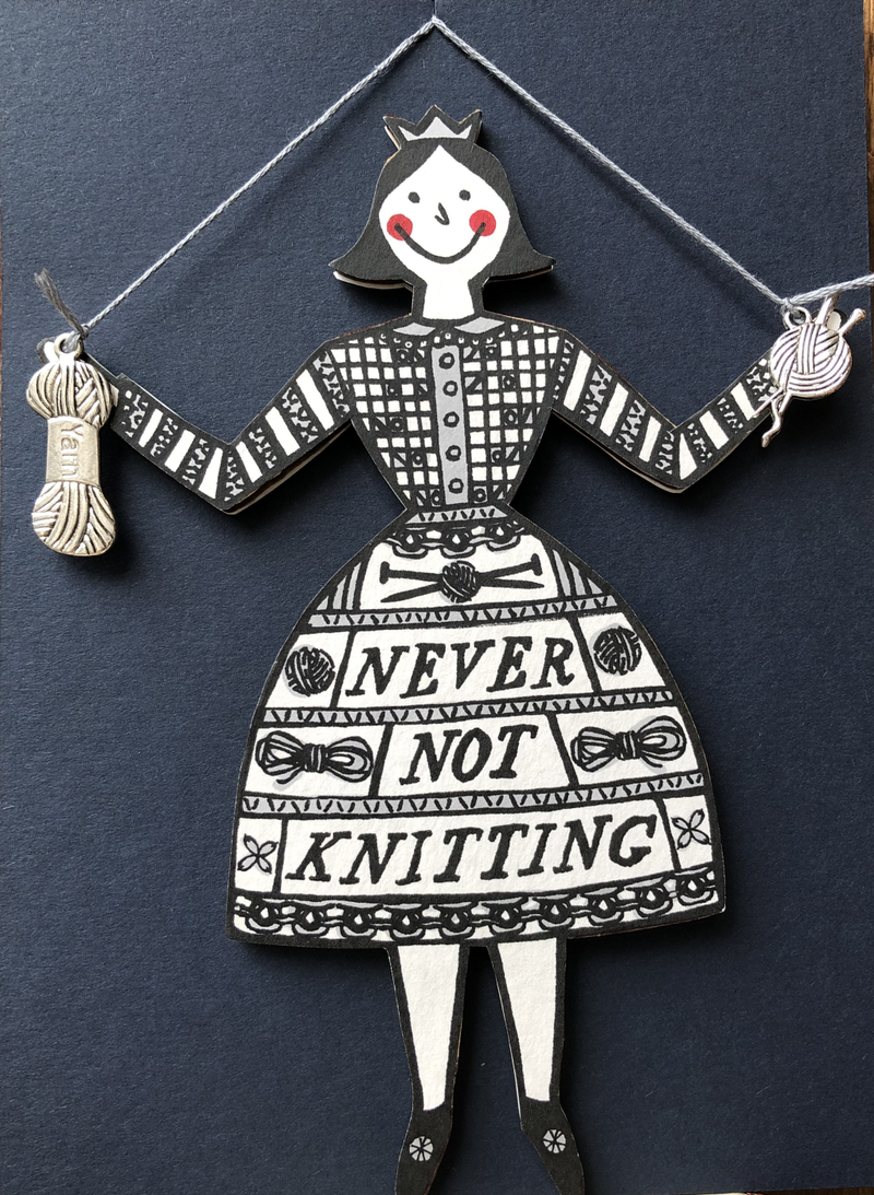Hanging Never not Knitting Lady