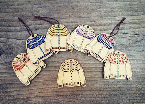 Katrinkles Stitchable Cardigan Ornament - Blank